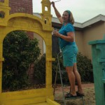 I never thought I would need a stepladder to paint a gravestone!