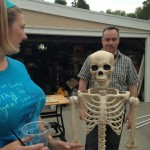 As you can tell by Ghoulish Glen's face, we are still working on skeleton engineering...and to think just a few years ago I hadn't even started decorating before October 1st!