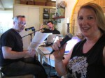 Recording the show script on a super-hot Saturday with no AC & no fans...whew!