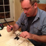 Ghoulish Glen demonstrating proper soldering technique