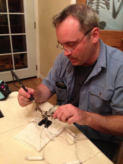 Ghoulish Glen demonstrating proper soldering technique