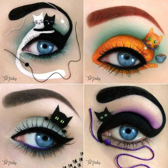 Amazing cat eye makeup going around the internet