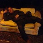 Poor Glen hadn't been home since Thursday morning!