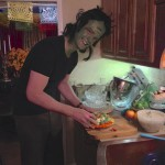 Herman Munster makes a good-looking veggie tray!