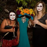 Carla & Erica with my front porch La Catrina