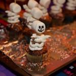 Erica's adorable pretzel skeleton cupcakes!