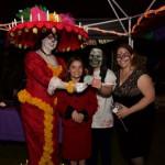 Creepy Cuisine winners Debi & daughters for their Puking Pumpkin!