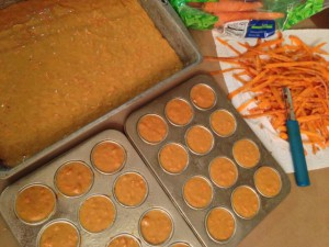 Making carrot cake from scratch...see all the peelings? ;)