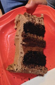 Chock Full O' Chocolate Cake Cross Section