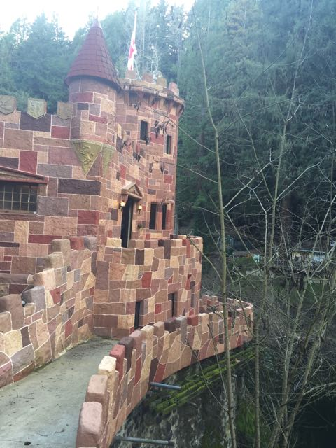 Perfect location for a castle on the cliff over the San Lorenzo River...