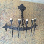 Very cool iron chandelier