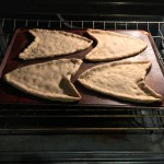 Barely baking the Starfleetza crusts to keep their shape