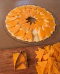 Cutting Star Trek Chevron Cheeses