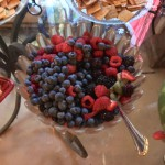 Festive Fruit Salad was patriotic colors before stirring ;)