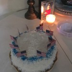 Sheila's patriotic coconut cake