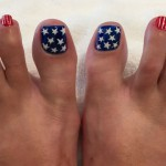 Professional Patriotic Pedicure