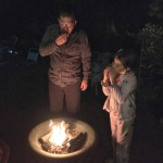Kevin & Ellie enjoying their Star Spangled S'mores