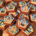 Chocolate Frog Marshmallow Cards on Homemade Graham Crackers