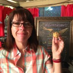 Jen shows the new Golden Snitch corn muffins