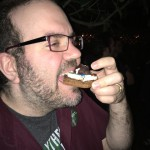 Ben enjoys is roasted Chocolate Frog S'more