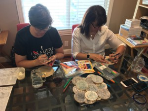 Cyd & Jen enjoying Coloring Cookies