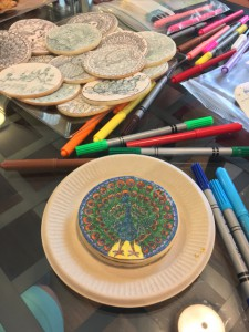 Coloring Cookies - Peacock