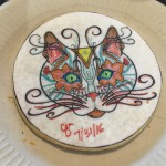 Jen signed her cat cookie