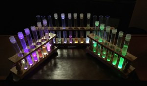 Three Lighted Test Tube Racks