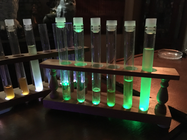 Green Lighted Test Tube Racks