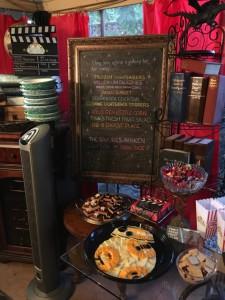 Menu chalkboard with The S'mores Awaken, BB-8 Cheese Plate & Finn's Fresh Fruit Salad
