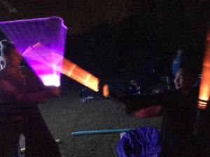 Lightsaber fight!