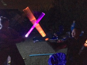 Lightsaber fight!
