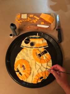 Creating my BB-8 Cheese Plate