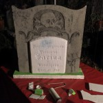 Sarina's gravestone also received a new base using Day of the Dead foam scraps