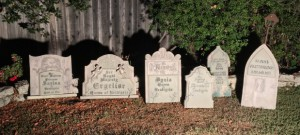 All 6 gravestones ready for aging treatment