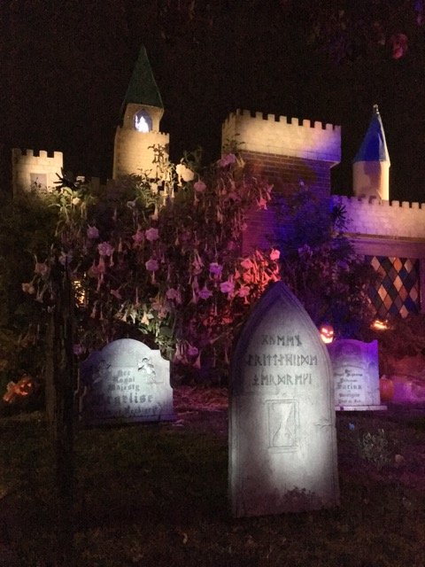 The Ghostly Guardian has watched over Castle Brittahytta for a thousand years. Her gravestone is all in runes.