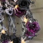 Closeup of my Victorian spider wreath