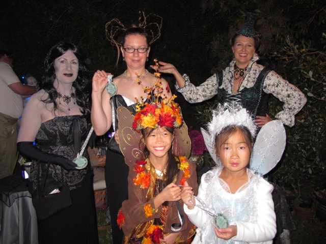 Most Creative Costume Winners Melissa, Robin, Violet and Nola