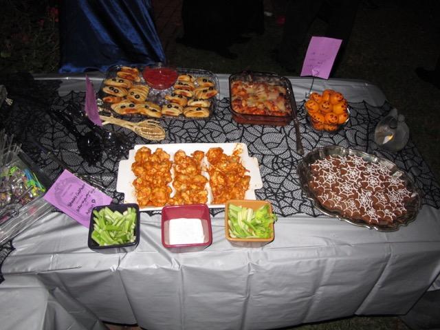 Creepy Cuisine winners in absentia: Ashlyn's Beheaded Cauliflower and Kian's Zombie Balls