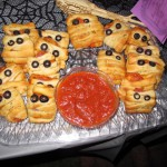 Creepy Cuisine winner: Mari's Mum's the Word mummy pizza pockets