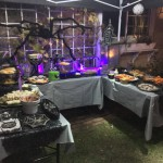 Creepy Cuisine table in the backyard