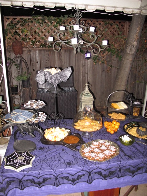 Patio food table