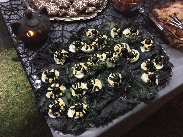 Creepy Cuisine winner: Sheila's Spider Deviled Eggs