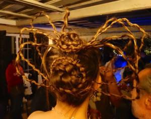 Robin's amazing spider braids! Definitely Most Creative Costume!