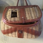 Vintage style wicker fishing creel