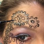 Steampunk Makeup Sunday - filling in the gears with metallics