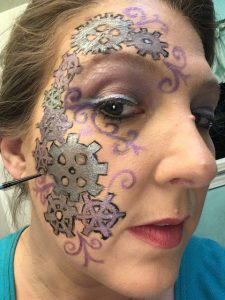 Steampunk Makeup Sunday - shading for depth