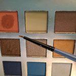 Steampunk Makeup Friday - using metallic eyeshadows as paint