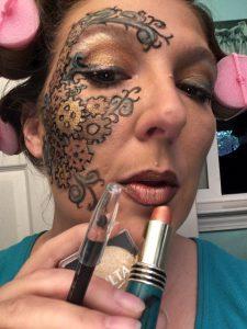 Steampunk Makeup Friday - metallic lips!